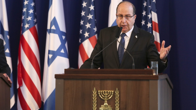 epa04854413 Israeli Defense Minister Moshe Yaalon  during a press conference with US Secretary of Defense Ashton Carter (not pictured) at the Israeli Defense Ministry in Tel Aviv, Israel, 20 July 2015. Carter arrived in Israel late 19 July to - among other topics - discuss security needs within the scope of the recently agreed nuclear deal between Iran and six world powers. After Israel, Carter is to continue to Saudi Arabia and Jordan, in a bid to reassure key Middle Eastern allies on the nuclear deal with Iran.  EPA/DANEIL BAR-ON
