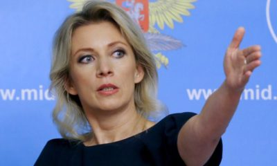Spokeswoman of the Russian Foreign Ministry Maria Zakharova gestures as she attends a news briefing in Moscow, Russia, October 6, 2015.  REUTERS/Maxim Shemetov