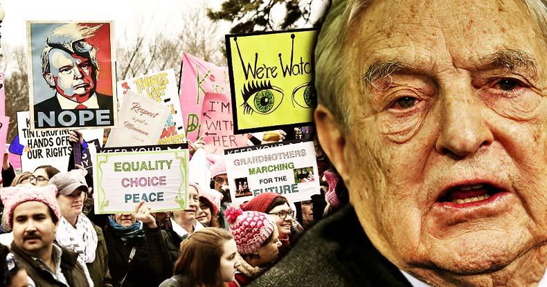 soros-women-march-against-trump