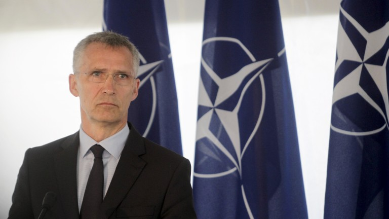 epa06038673 NATO Secretary General Jens Stoltenberg visits the multinational military exercise 'Iron Wolf 2017' during the media day, in Stasenai, Lithuania, 20 June 2017. Media reports state that some 5,300 military personnel from Lithuania and nine member countries of the North Atlantic Treaty Organization (NATO) are participating in the maneuvers from 12 to 24 June. The 'Iron Wolf 2017' exercise is part of the annual NATO maneuvers 'Saber Strike' in the Baltic region which is organized by the Command of the US Forces in Europe.  EPA/VALDA KALNINA