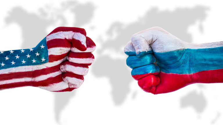USA versus Russia - demonstration of the power of a strong fist