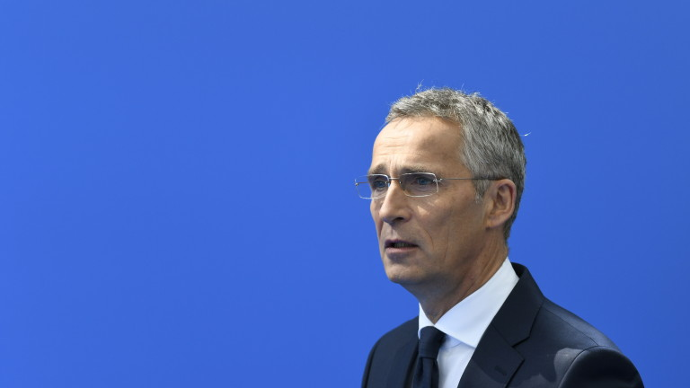epa06879820 NATO Secretary General Jens Stoltenberg arrives for a NATO summit in Brussels, Belgium, 11 July 2018. NATO countries' heads of states and governments gather in Brussels for a two-day meeting.  EPA/CHRISTIAN BRUNA