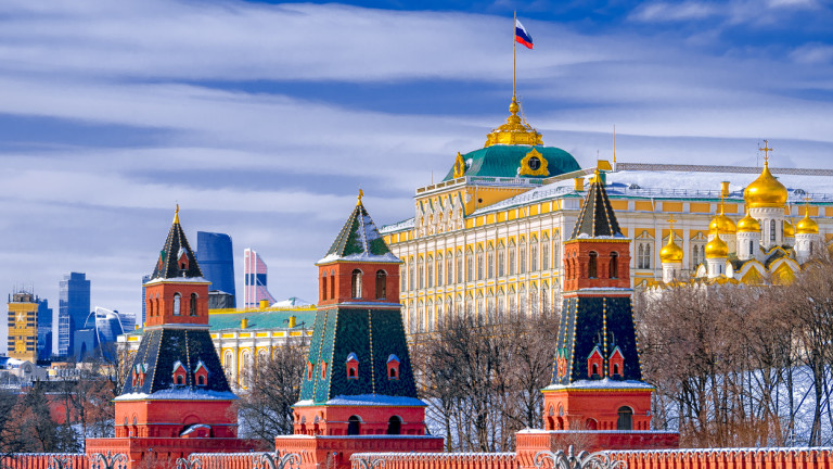 Grand Kremlin Palace in Moscow kremlin in winter