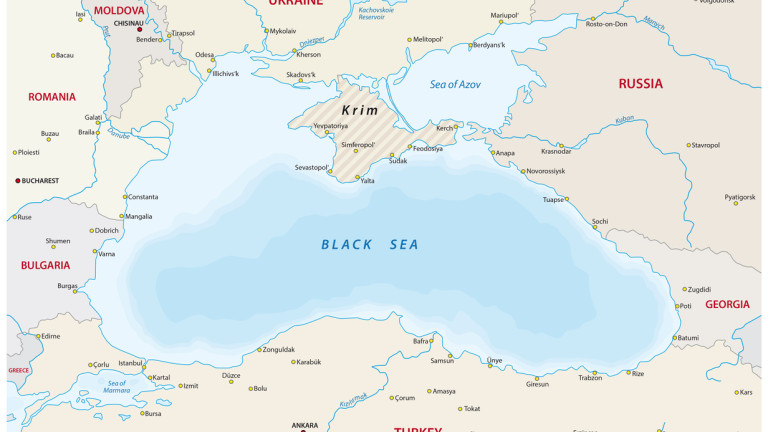 black sea vector map