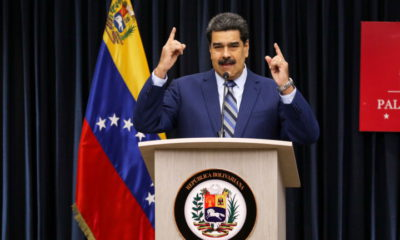 epa07226446 Venezuelan President Nicolas Maduro delivers a press conference at the Simon Bolivar press room of the Miraflores Palace, in Caracas, Venezuela, 12 December 2018. Maduro is continuing to accuse US National Security Advisor Bolton of leading a plan to murder him and put an end to the Bolivarian revolution in Venezuela, which started in 1999.  EPA/Cristian Hernandez