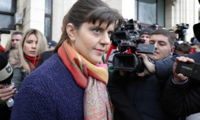 epa07372335 Laura Codruta Kovesi, 45, former chief prosecutor of the National Anti-Corruption Bureau (DNA), exits from the Prosecutor's Office headquarters after being informed about the reasons she will be investigated for, in Bucharest, Romania, 15 February 2019. Romania's Justice Minister Tudorel Toader, who removed Codruta Kovesi from her position last year, accused her of signing 'secret' deals with the national intelligence agency in a anti-democratic manner, informing the European Commision about. Kovesi, who was proposed for the post of European Chief Prosecutor, denied the official misconduct and bribery allegations. After Romanian administration decided to block Kovesi application, the European Commission reacted by stating that prosecutors running for the position of European Chief Prosecutor shall be treated fairly. Kovesi said she was informed about the allegations formed by the Special Investigative Section for Prosecutors, and she filed two appeals as a reaction. Romania in the last years struggled to combat corruption, and the DNA was one of the main institutions in the fight it under Kovesi command.  EPA/ROBERT GHEMENT