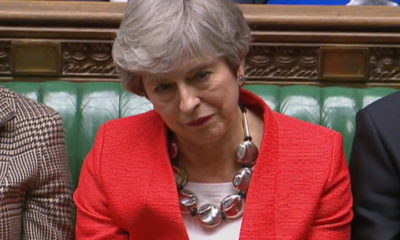 epa07432090 A grab from a handout video made available by the UK Parliamentary Recording Unit shows British Prime Minister Theresa May in the House of Commons parliament in London, Britain, 12 March 2019. MPs defeated her Brexit deal by 149 votes. The United Kingdom is officially due to leave the European Union on 29 March 2019, two years after triggering Article 50 in consequence to a referendum.  EPA/UK PARLIAMENTARY RECORDING UNIT / HANDOUT MANDATORY CREDIT: UK PARLIAMENTARY RECORDING UNIT HANDOUT EDITORIAL USE ONLY/NO SALES HANDOUT EDITORIAL USE ONLY/NO SALES HANDOUT EDITORIAL USE ONLY/NO SALES HANDOUT EDITORIAL USE ONLY/NO SALES HANDOUT EDITORIAL USE ONLY/NO SALES