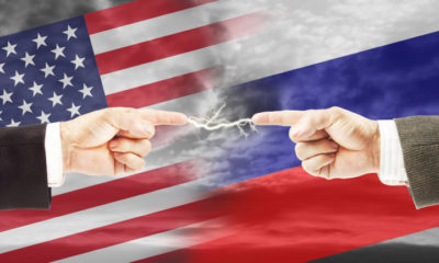 Tense relations between Russia and the United States. Concept of conflict