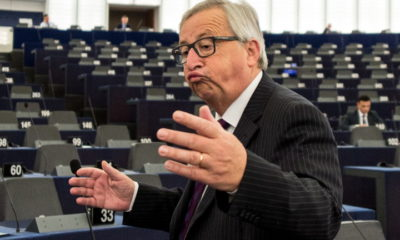 epa07574520 (FILE) - President of the European Commission Jean-Claude Juncker delivers his speech at the European Parliament in Strasbourg, France, 04 July 2017. Junker said, it was 'ridiculous' to speak before an almost empty plenum. (reissued 16 May 2019). Jean-Claude Juncker's term as President of the European Commission is ending in November 2019, and he is not seeking re-election. Juncker who is known for his notoriously informal hugging and kissing greetings, started his tem on 01 November 2014. He served as Luxembourg's finance minister from 1989 to 2009 and prime minister from 1995 to 2013. In 2017, Juncker cam under fire after the publication of the so-called Lux Leaks, a leak of confidential documents that revealed corporate tax deals known as 'sweetheart deals' which were made by multi-national companies in Luxembourg. The deals facilitated tax evasion for the companies during Juncker's terms as prime and finance minister. In 2013 Juncker resigned as Luxembourg's prime minister following the so-called Srel scandal involving the country's intelligence agency and illegal wiretapping related to the Bombers Affair, a series of bomb attacks which targeted infrastructure of electricity company Cegedel in the mid-1980s.  EPA/PATRICK SEEGER  ATTENTION: This Image is part of a PHOTO SET