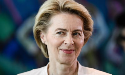 epa07718866 (FILE) - German Defense Minister Ursula von der Leyen at the beginning of a cabinet meeting at the Chancellery in Berlin, Germany, 03 July 2019 (reissued 15 July 2019). Media reports on 15 July 2019 state Ursula von der Leyen has announced via Twitter that she will resign from her post as German Defense Minister on 17 July 2019. A vote on von der Leyen's nomination as the head of the European Commission will take place at the plenary session of the European  Parliament on 16 July.  EPA/CLEMENS BILAN