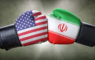 A boxing match between the USA and Iran