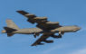 Bossier City, LA, U.S.A. – Jan. 24, 2017: A U.S. Air Force B 52 bomber, assigned to the Air Force Global Strike Command's Eighth Air Force, flies over Bossier City toward Barksdale Air Force Base.