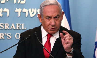 epa08331826 (FILE) - Israeli Prime Minister Benjamin Netanyahu gives a speech regarding the new measures that will be taken to fight the Coronavirus in Israel, at his Jerusalem office, 14 March 2020. According to news reports on 30 March 2020, Netanyahu will self-isolate after a parliamentary tests positive for coronavirus. Netanyahu was scheduled to undergo a coronavirus test by 31 March, a previous test on March 15, found the premier to be negative.  EPA/GALI TIBBON / POOL