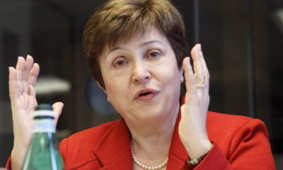 epa07754436 (FILE) - World Bank Chief Executive Officer Kristalina Georgieva speaks at the European headquarters of the United Nations in Geneva, Switzerland, 07 March 2018 (reissued 03 August 2019). EU ministers meeting in Paris on 02 August 2019 selected Bulgaria's Kristalina Georgieva as the candidate to head the International Monetary Fund.  EPA/SALVATORE DI NOLFI *** Local Caption *** 54179973